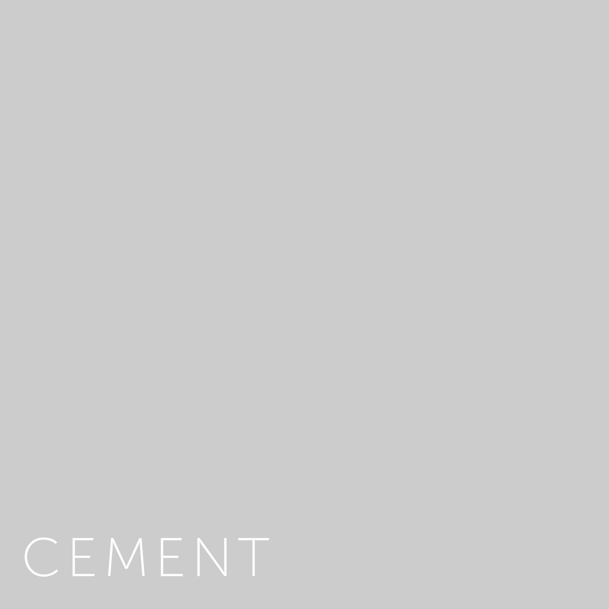 Zeer Verf - Kleurstaal 19x19 Cement   Home Made By NW72